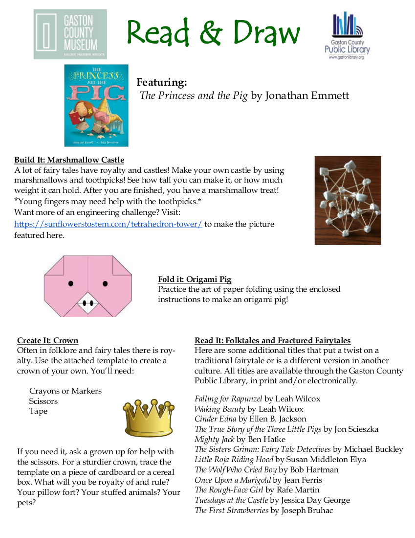 princess and the pig activity